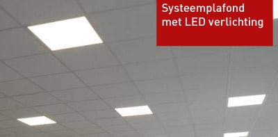 Systeemplafond met LED verlichting