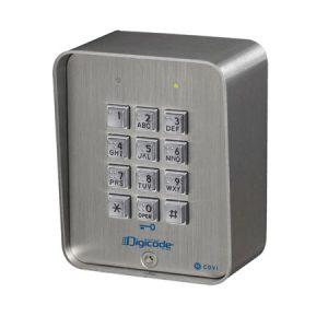 CBB Codeklavier (inox) met braille toetsen – 3 relais