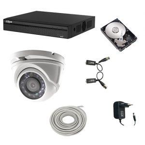 Complete set HDCVI camerasysteem met 1 domecamera