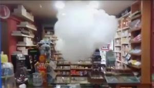 Mistgenerator in werking