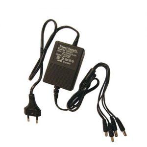 Netvoeding 12VDC 2 Ampere 4 uitgangen