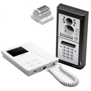 Videx 4000 serie buitenpost+codepaneel opbouw, binnenpost 6200 serie, 6-draads